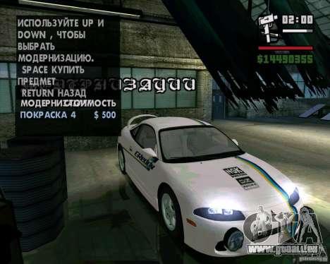 Mitsubishi Eclipse GST für GTA San Andreas linke Ansicht