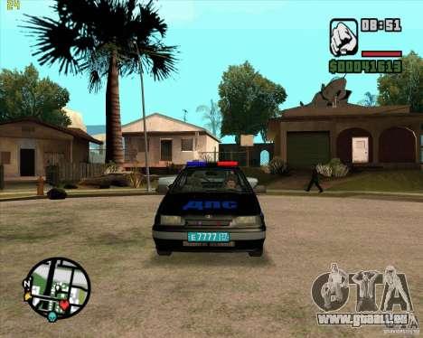 ВАЗ 2114 DPS tuning pour GTA San Andreas laissé vue