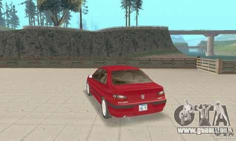 Peugeot 406 stock pour GTA San Andreas sur la vue arrière gauche