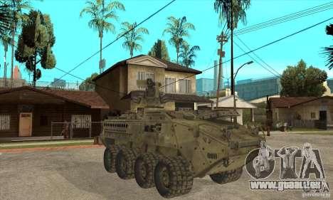Stryker CDMW2 pour GTA San Andreas vue arrière