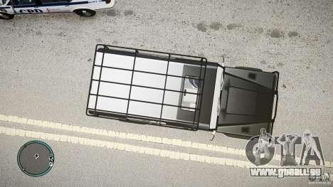 Land Rover Defender pour GTA 4 Vue arrière