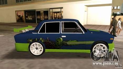 VAZ 2106 Tuning v2.0 pour GTA Vice City sur la vue arrière gauche