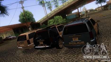 Cadillac Escalade 2007 Cop Car pour GTA San Andreas vue de dessus