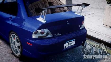 Mitsubishi Lancer Evolution VIII pour GTA 4 roues