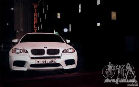 BMW X6M E71 pour GTA San Andreas vue intérieure