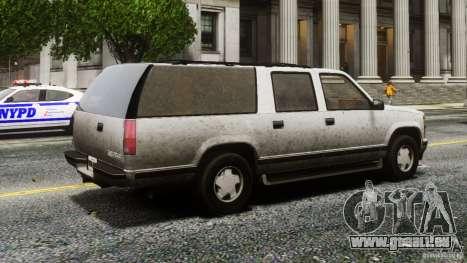 Chevrolet Suburban GMT400 v1.1 pour GTA 4 Vue arrière de la gauche