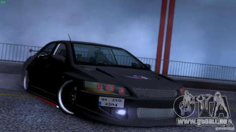 Mitsubishi Lancer Evolution 8 Drift pour GTA San Andreas vue de dessus