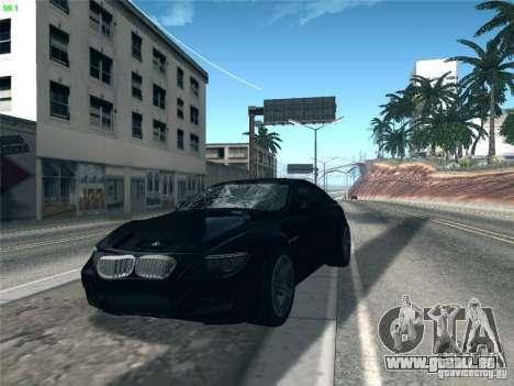 BMW M6 2010 Coupe für GTA San Andreas Innenansicht