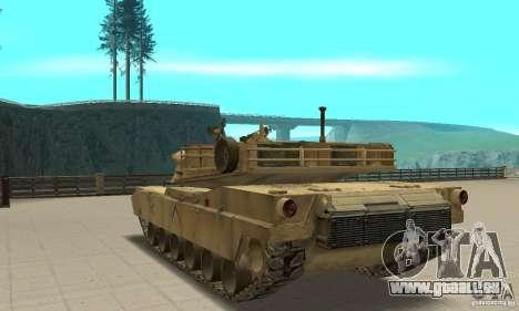 Tank M1A2 Abrams für GTA San Andreas zurück linke Ansicht