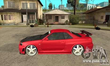 Nissan Skyline GTR-34 Carbon Tune für GTA San Andreas linke Ansicht