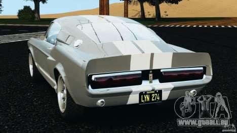 Shelby GT 500 Eleanor v2.0 pour GTA 4 Vue arrière de la gauche