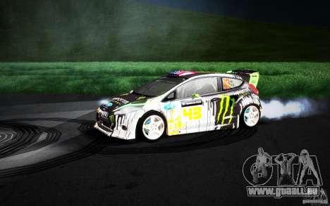 Ford Fiesta Gymkhana Four für GTA San Andreas obere Ansicht
