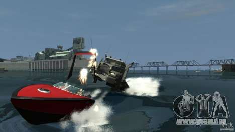 Biff boat pour GTA 4 est une vue de l'intérieur