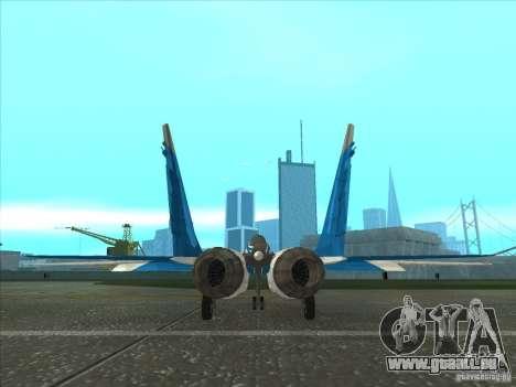 MiG-29 der Mauersegler für GTA San Andreas zurück linke Ansicht