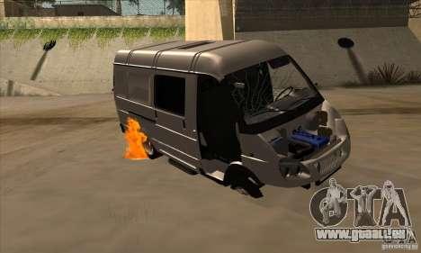 Gazelle 2705-Fracht-Passagier für GTA San Andreas Unteransicht