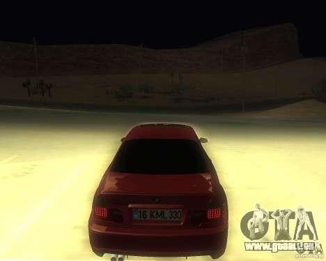 BMW 330 Ci pour GTA San Andreas laissé vue