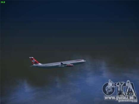 Airbus A340-300 Swiss International Airlines pour GTA San Andreas vue de côté