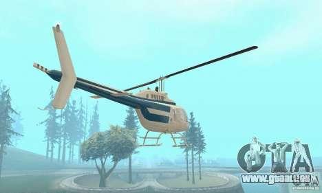 Bell 206B JetRanger II für GTA San Andreas Rückansicht
