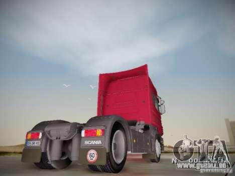 Scania R580 Topline pour GTA San Andreas vue de droite