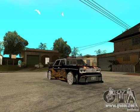 Mélodie de VAZ 2106 GTX pour GTA San Andreas vue arrière