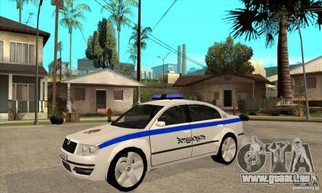 Skoda SuperB GEO Police pour GTA San Andreas