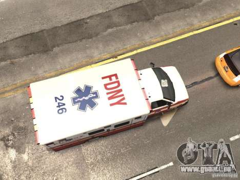 Chevrolet Ambulance FDNY v1.3 pour GTA 4 vue de dessus