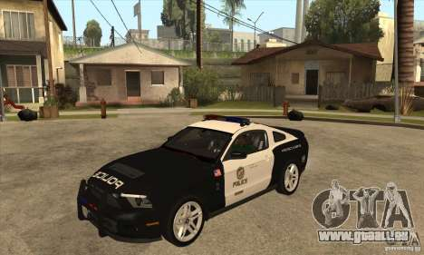 Shelby GT500 2010 Police für GTA San Andreas