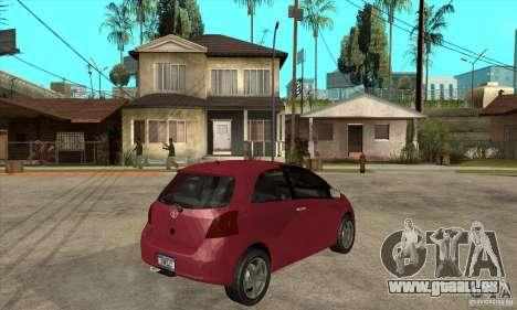 Toyota Yaris pour GTA San Andreas vue de droite