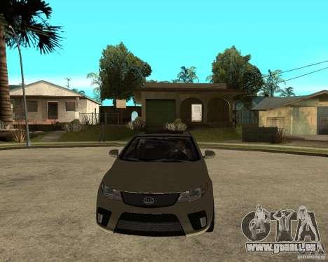 KIA Forte Coup für GTA San Andreas Rückansicht