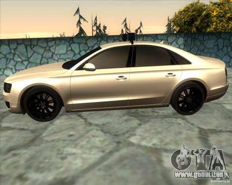 Audi A8 2010 v2.0 pour GTA San Andreas laissé vue