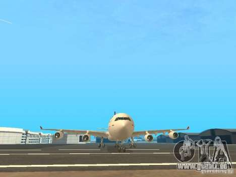 Airbus A340-300 Qantas Airlines pour GTA San Andreas vue de dessus