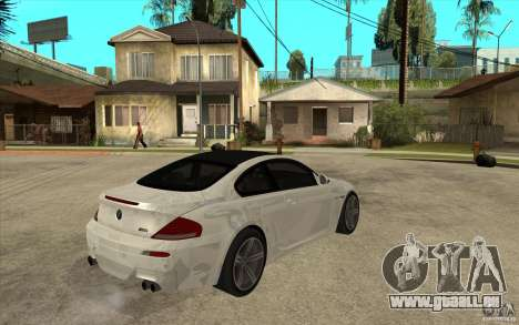 BMW M6 Coupe V 2010 pour GTA San Andreas vue de droite