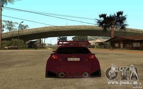 Audi A3 Tuned pour GTA San Andreas sur la vue arrière gauche