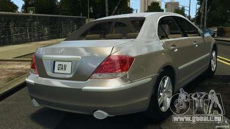 Honda Acura RL pour GTA 4 Vue arrière de la gauche