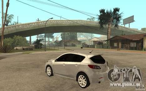 Mazda 3 Mazdaspeed 2010 für GTA San Andreas zurück linke Ansicht