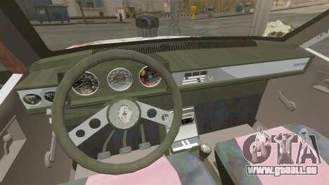 Renault 12 Toros rouillé v2.0 pour GTA 4 est une vue de l'intérieur