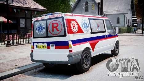 Ford Transit Polish Ambulance [ELS] pour GTA 4 est une vue de l'intérieur
