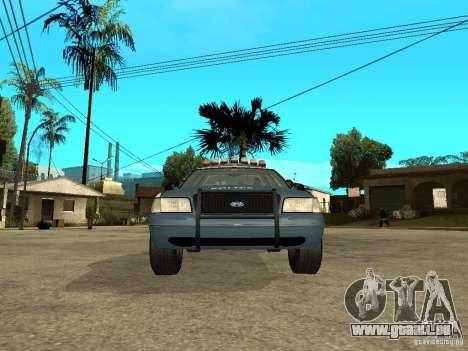 2003 Ford Crown Victoria Gotham City Police Unit für GTA San Andreas rechten Ansicht