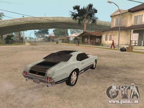 SabreGT de GTA 4 pour GTA San Andreas vue de droite