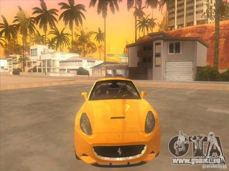 Ferrari California pour GTA San Andreas vue intérieure