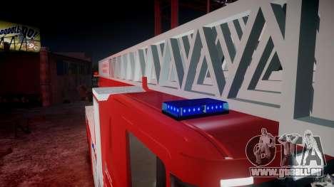 Scania Fire Ladder v1.1 Emerglights blue-red ELS pour GTA 4