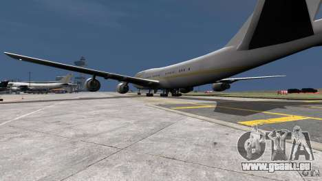 Real Emirates Airplane Skins Gold pour GTA 4 est une gauche
