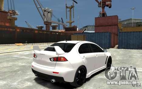 Mitsubishi Lancer Evo X v.1.0 pour GTA 4 est un droit
