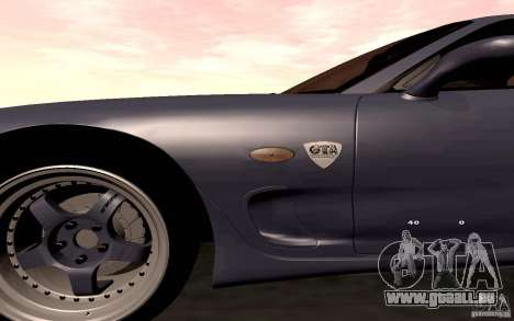 Mazda RX-7 Hellalush pour GTA San Andreas vue de côté