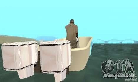 Bathtub Dinghy pour GTA San Andreas sur la vue arrière gauche