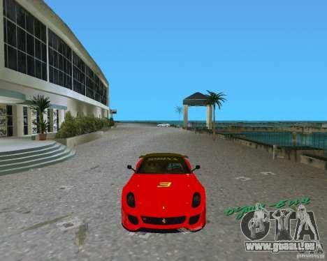 Ferrari 599 GTO pour une vue GTA Vice City de la gauche