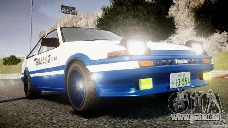 Toyota Trueno AE86 Initial D für GTA 4 Seitenansicht
