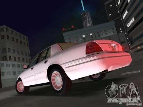 Ford Crown Victoria pour une vue GTA Vice City de la gauche