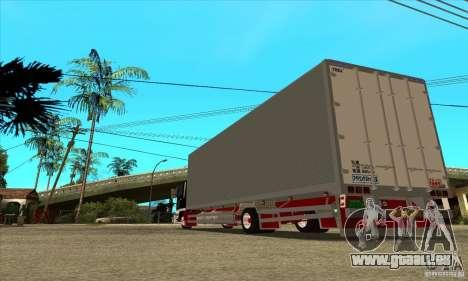 Hino Ranger pour GTA San Andreas sur la vue arrière gauche