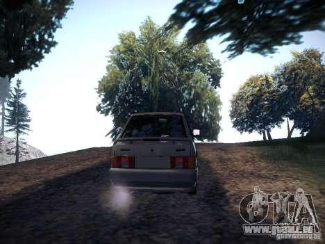 Drain de Vaz 2113 pour GTA San Andreas sur la vue arrière gauche